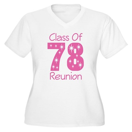 Class Of 1978 Reunion Women's Plus Size V-Neck T-S