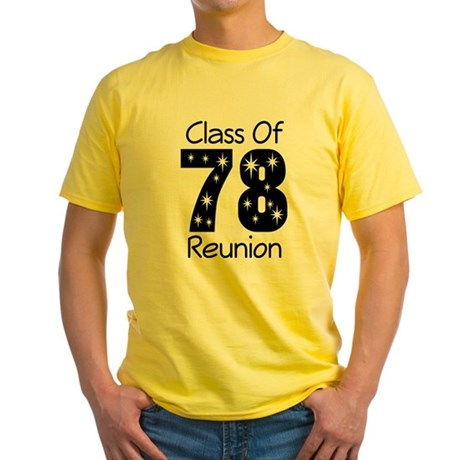 Class Of 1978 Reunion Yellow T-Shirt