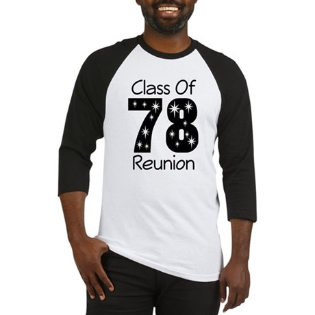 Class Of 1978 Reunion Baseball Jersey