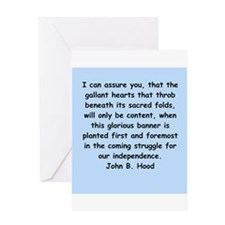 john hood quotes Greeting Card