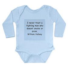 william bull halsey Long Sleeve Infant Bodysuit