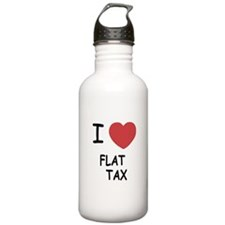 I heart flat tax Water Bottle