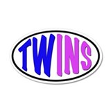 Twins Sticker 22x14 Oval Wall Peel
