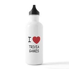 I heart trivia games Sports Water Bottle
