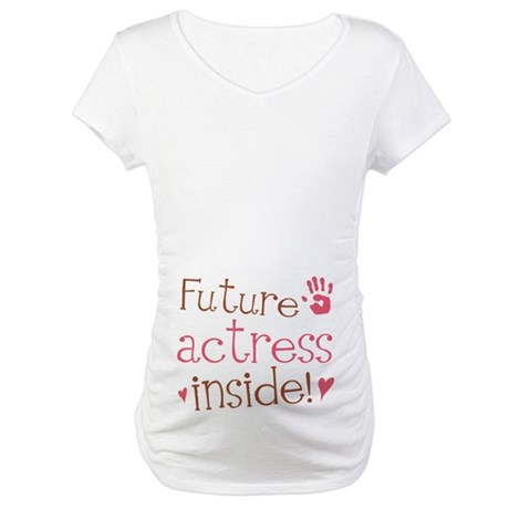 Future Actress Pink Maternity T-Shirt