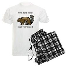 Beaver. With Text. Pajamas