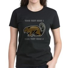 Beaver. With Text. Tee