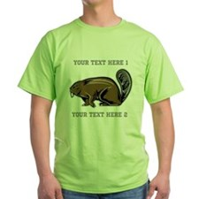 Beaver. With Text. T-Shirt