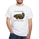 Beaver Mens White T-shirts