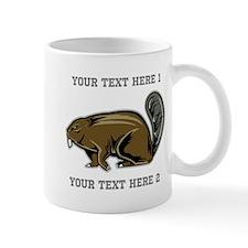 Beaver. With Text. Mug