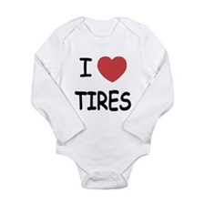 I heart tires Long Sleeve Infant Bodysuit