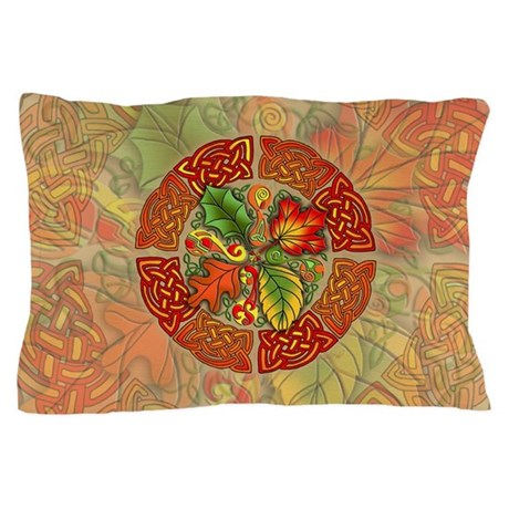 Celtic Autumn Leaves Pillow Case