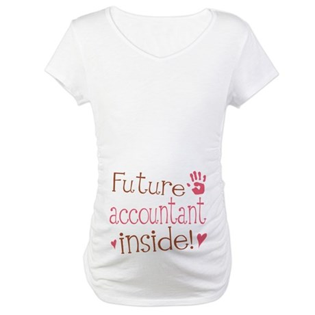 Future Accountant Pink Maternity T-Shirt
