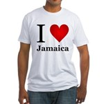I Love Jamaica Fitted T-Shirt
