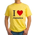 I Love Jamaica Yellow T-Shirt