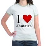 I Love Jamaica Jr. Ringer T-Shirt