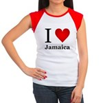 I Love Jamaica Women's Cap Sleeve T-Shirt