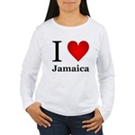 I Love Jamaica Women's Long Sleeve T-Shirt