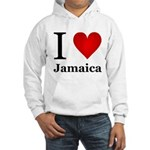I Love Jamaica Hooded Sweatshirt