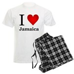I Love Jamaica Men's Light Pajamas