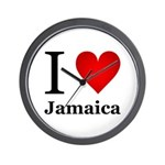 I Love Jamaica Wall Clock