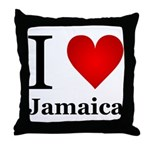 I Love Jamaica Throw Pillow
