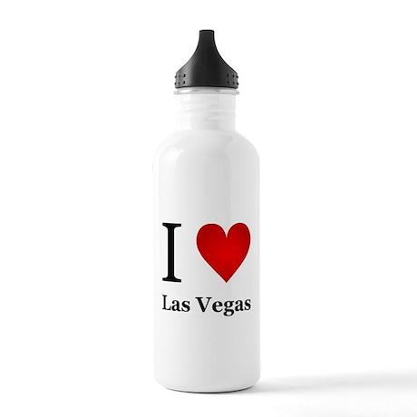 I Love Las Vegas Stainless Water Bottle 1.0L