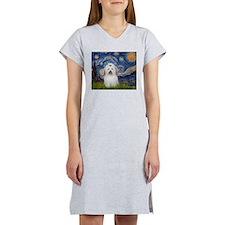 Starry Night Coton de Tulear Women's Nightshirt
