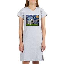 Starry Night English Bulldog Women's Nightshirt