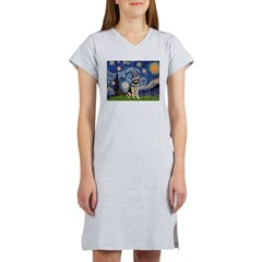 Starry / German Shepherd 10 Women's Nightshirt