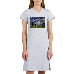 Starry / Keeshond Women's Nightshirt