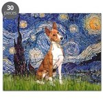 Starry Night & Basenji Puzzle