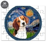 Starry Night Beagle #1 Puzzle