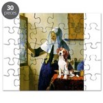 Woman w/Pitcher - Beagle Puzzle