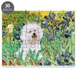 Irises and Bichon Puzzle