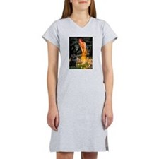 Fairies & Schipperke Women's Nightshirt