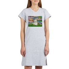 Lilies (#2)/Sealyham L2 Women's Nightshirt