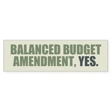 Balanced Budget Amendment Bumper Sticker