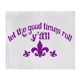 Vintage fleur de lis Throw Blanket