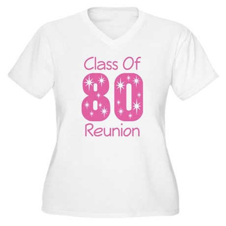 Class of 1980 Reunion Women's Plus Size V-Neck T-S
