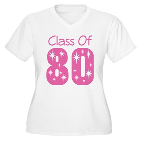 Class of 1980 Women's Plus Size V-Neck T-Shirt