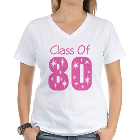 Class of 1980 Women's V-Neck T-Shirt