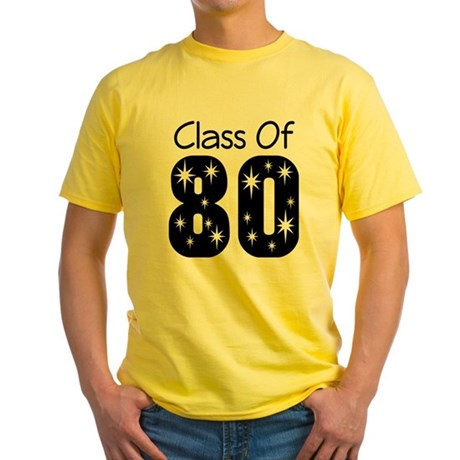 Class of 1980 Yellow T-Shirt