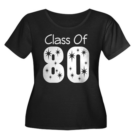 Class of 1980 Women's Plus Size Scoop Neck Dark T-