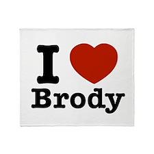 I love Brody Throw Blanket