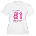 Class of 1981 Reunion Women's Plus Size V-Neck T-S