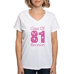 Class of 1981 Reunion Women's V-Neck T-Shirt