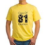 Class of 1981 Reunion Yellow T-Shirt