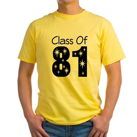 Class of 1981 Yellow T-Shirt