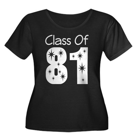 Class of 1981 Women's Plus Size Scoop Neck Dark T-
